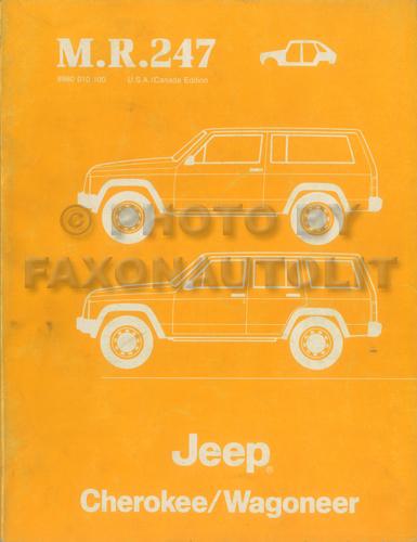 1984 jeep grand wagoneer j truck original wiring diagram schematic
