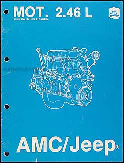 1984-1987 AMC & Jeep 4 Cylinder  Engine Overhaul Manual Original