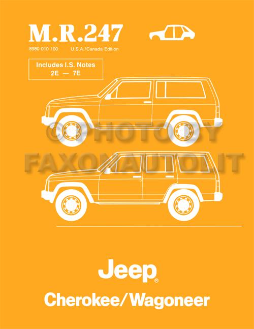 1984-1988 Jeep Cherokee/Wagoneer Body Manual Reprint M.R.247