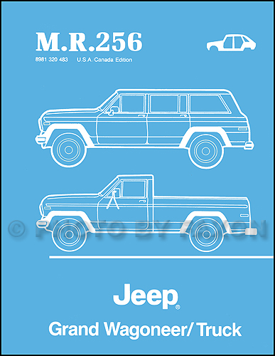 1984 1988 jeep grand wagoneer truck body manual reprint m r 256 rh faxonautoliterature com 89 Jeep Wrangler Wiring Diagram 1982 Jeep CJ7 Wiring-Diagram
