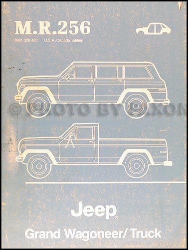 1984 88JeeptruckOBM 1984 jeep grand wagoneer & j truck original wiring diagram schematic 1978 jeep wagoneer wiring diagram at n-0.co