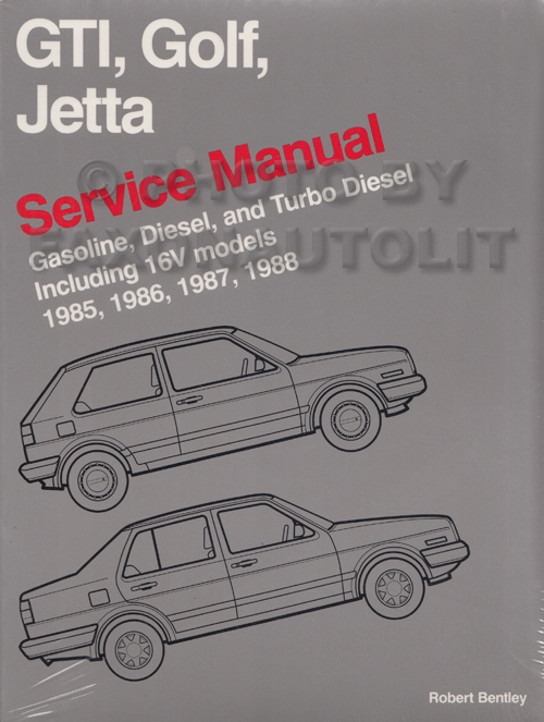 1985 1988 vw gti golf and jetta bentley repair shop manual