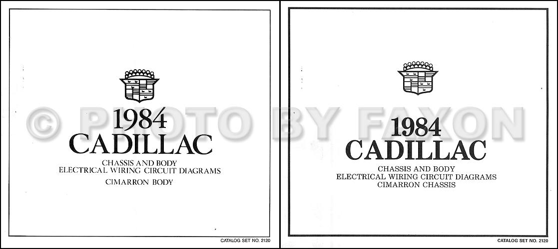 1984 Cadillac Cimarron Wiring Diagram Color Foldout