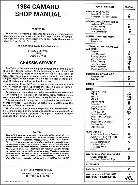 1984ChevCamaroORM-TOC Wiring Diagram For Camaro Z on 1984 camaro sport coupe wiring diagram, 1979 z28 wiring diagram, 1984 corvette wiring diagram, 1984 suburban wiring diagram, 1984 camaro z28 belts diagram, 1984 caprice wiring diagram, 1967 camaro ss wiring diagram, 1984 s10 wiring diagram, 1981 camaro wiring diagram, 1984 monte carlo ss wiring diagram, 1984 mustang wiring diagram, 1984 chevrolet wiring diagram,