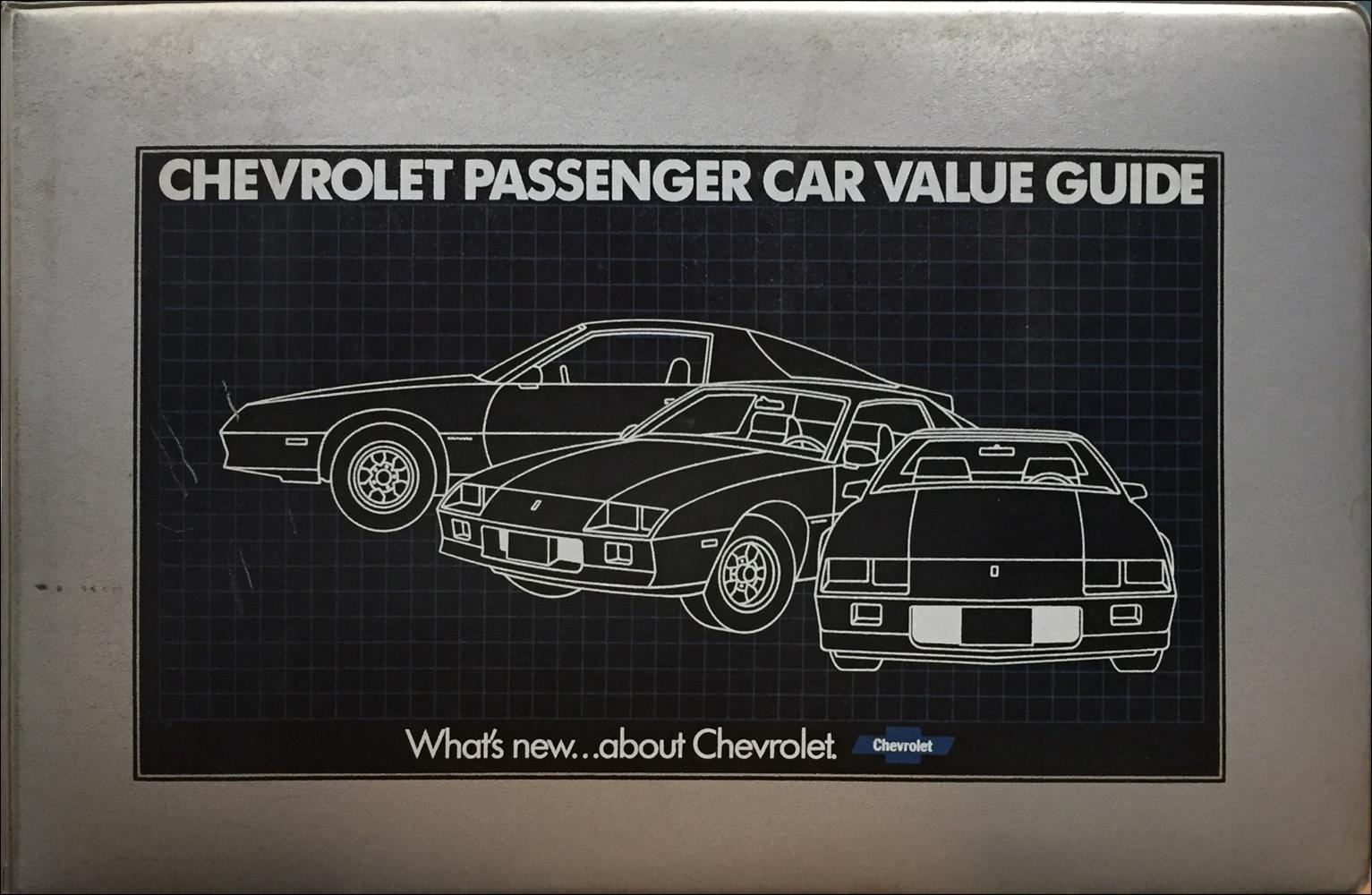 1984 Chevrolet Car Color & Upholstery Dealer Album/Data Book Original