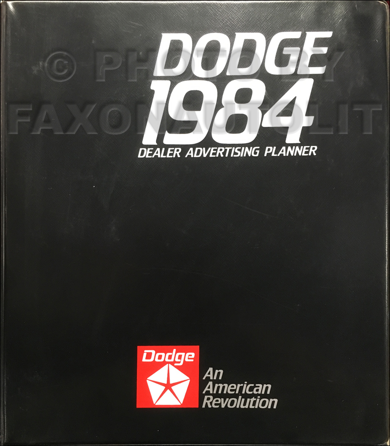 1984 Dodge Dealer Advertising Planner Original