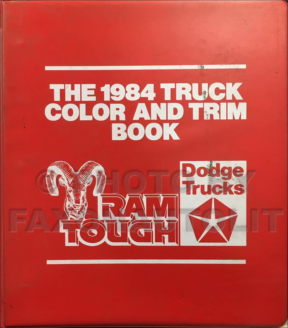1984 Dodge Truck Color & Upholstery Dealer Album Original