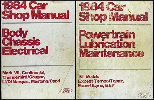 1984 Ford Mustang And Mercury Capri Wiring Diagram Original
