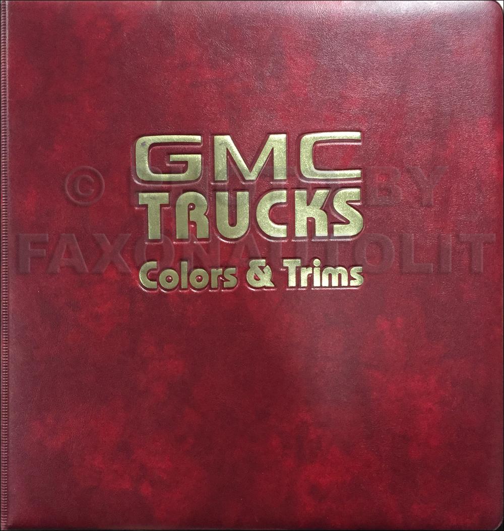 1984 GMC Color & Upholstery Dealer Album Original