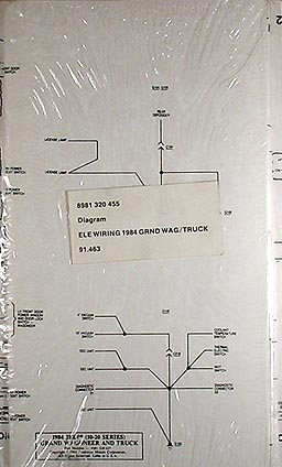 1984GrandWagoneer TruckElectricalDiagram 1984 jeep grand wagoneer & j truck original wiring diagram schematic 1970 Jeep Wagoneer at bakdesigns.co