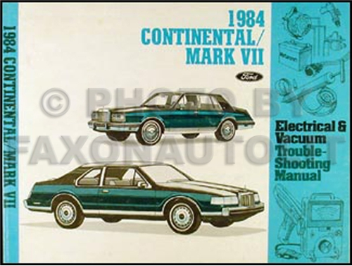 1984 Lincoln Continental and Mark VII Wiring Diagram Original – Ignition Wiring Diagram For A 1985 Lincoln Lsc