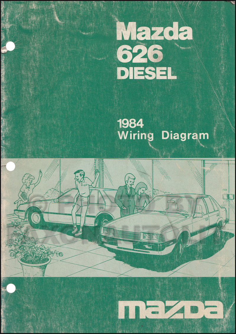 1984 Mazda 626 Diesel Wiring Diagram Manual Original Electrical