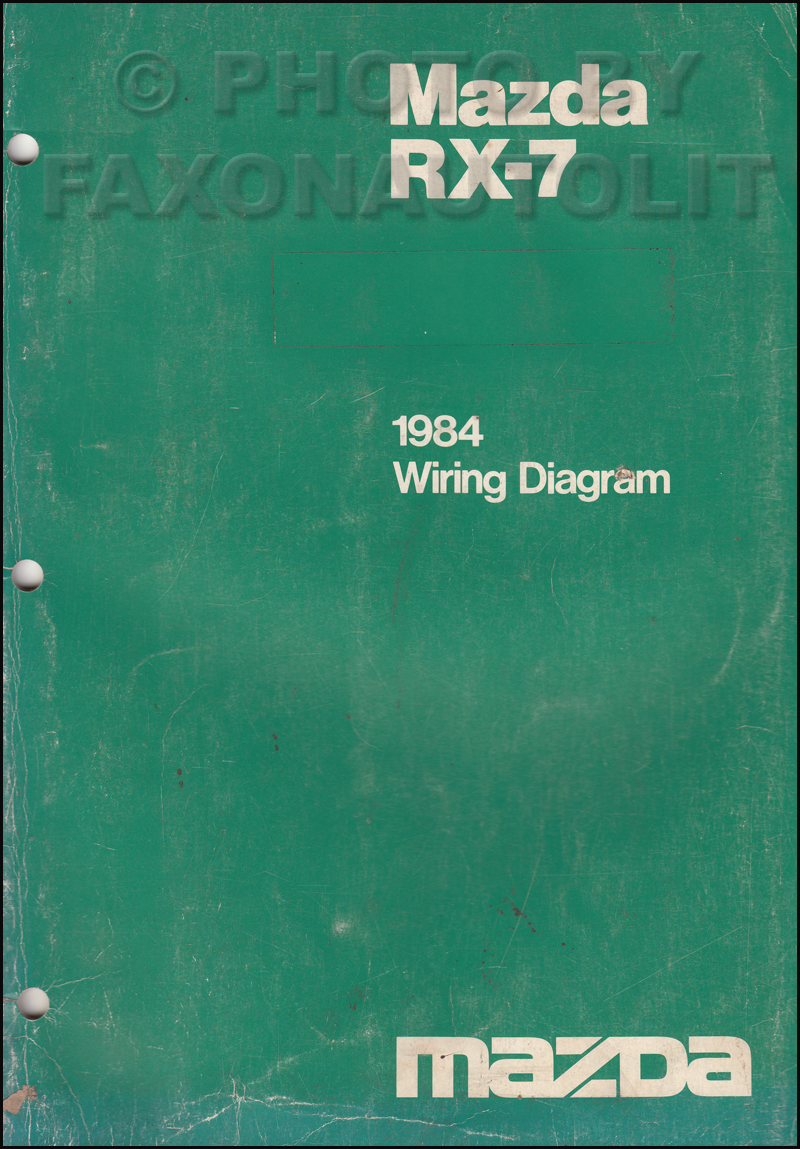 1984 mazda rx 7 wiring diagram manual original rx7