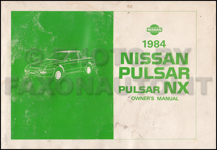 1984 Nissan Pulsar Nx Repair Shop Manual Original