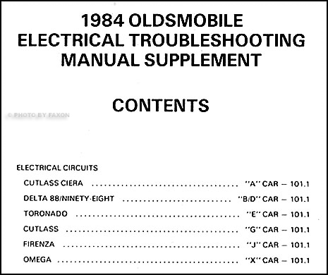 1984OldsETMS TOC 1984 olds electrical troubleshooting manual original supplement 1984 oldsmobile delta 88 wiring diagram at soozxer.org