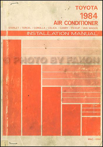 1984 Toyota Air Conditioner Installation Manual Original