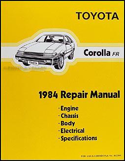 1984 toyota corolla rwd repair shop manual original rh faxonautoliterature com Toyota Corolla KE70 Toyota Corolla Ae81