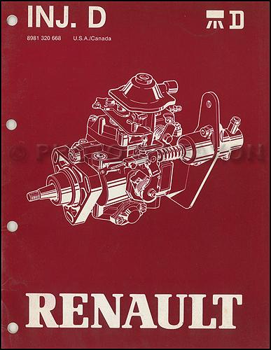 1983-1987 Jeep & Renault Diesel Fuel Injection Overhaul Manual Original