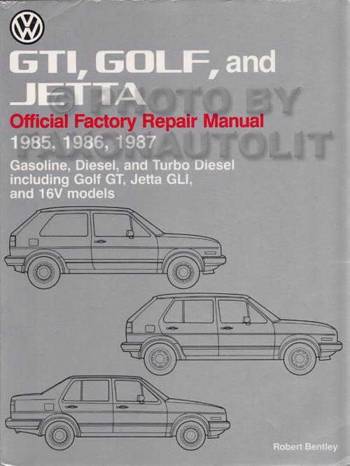 1985 1987 vw gti golf and jetta bentley repair shop manual rh faxonautoliterature com 1985 VW Beetle 1985 VW Beetle