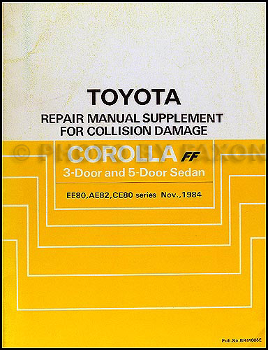 1985 1988 toyota corolla fx16 body collision manual original 1985 1988 toyota corolla fx16 body collision manual original supplement sciox Images
