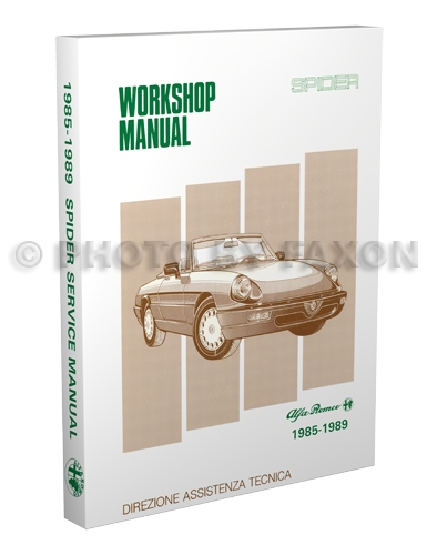 1985 1989 alfa romeo spider repair shop manual reprint rh faxonautoliterature com
