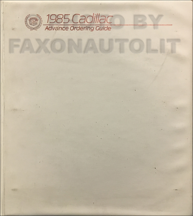 1985CadillacAdvanceOrdering 1985 cadillac cimarron 6 cylinder foldout wiring diagrams original  at aneh.co