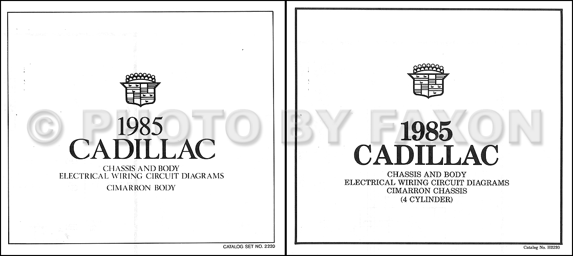 1985 Cadillac Cimarron 4 Cylinder Wiring Diagram Color Electrical Schematic
