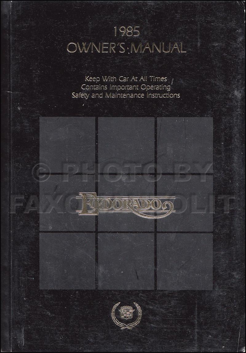 1985CadillacElDoradoOOM 1985 cadillac merchandising portfolio data book and color  at aneh.co