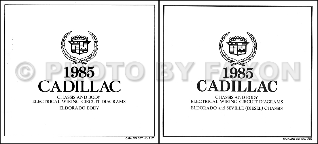 1985 Cadillac Eldorado Diesel Wiring Diagram Set Color Electrical Schematic