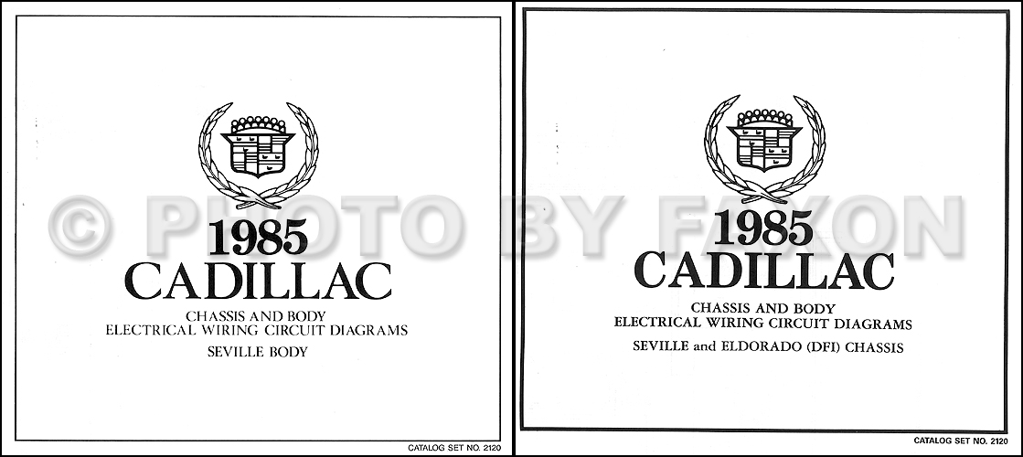 1985 Cadillac Seville Gas Wiring Diagram Set Color