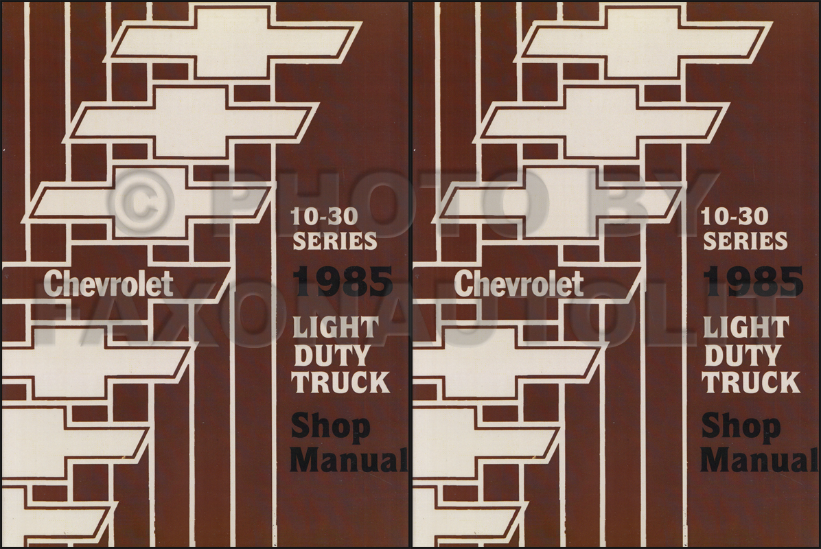 1985 Chevy Truck Repair Shop Manual Reprint Pickup Blazer Suburban Wiring Diagram Van Fc Set