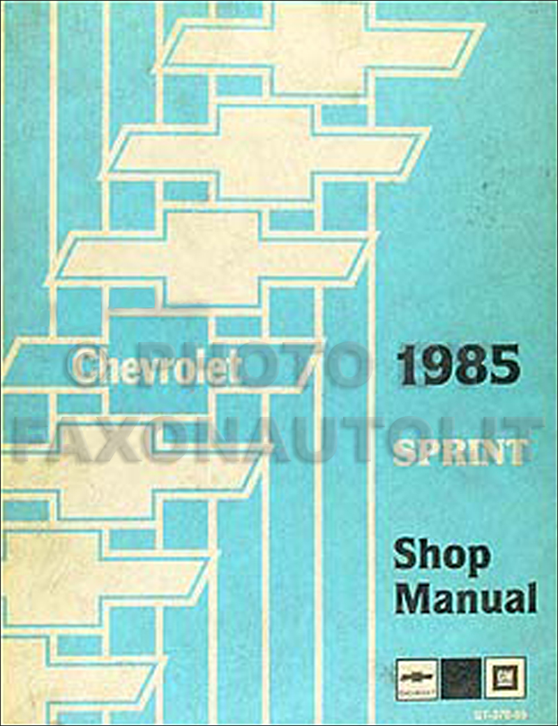 Chevrolet Sprint Service Manuals Shop, Owner, Maintenance And