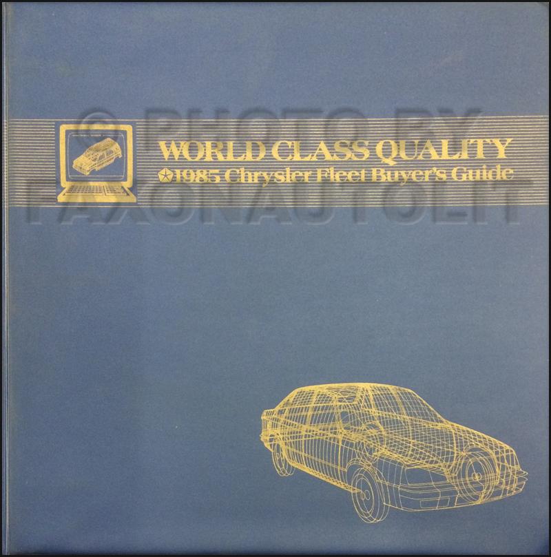 1985 Chrysler Plymouth Dodge Fleet Buyer's Guide Original