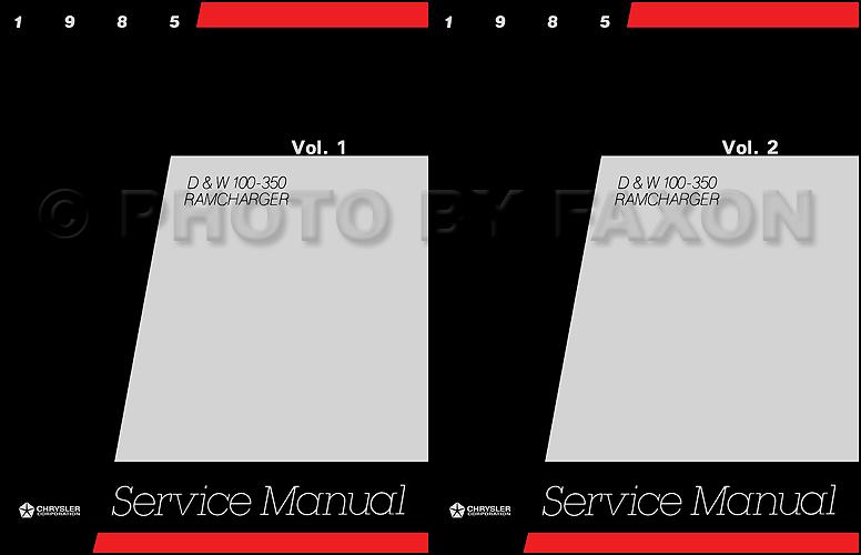 1985 Dodge Pickup Truck & Ramcharger Repair Manual Reprint