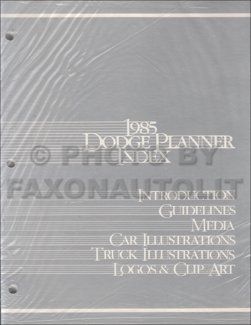 1985 Dodge Dealer Advertising Planner Original
