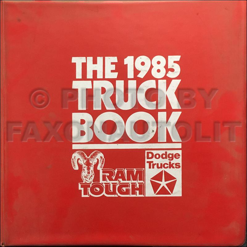 1985 Dodge Truck Data Book Dealer Album Original
