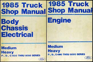 1985 ford truck cowl wiring diagram f600 f700 f800 f7000 b600 1985 ford f b c 600 8000 medium and heavy truck repair shop manual set