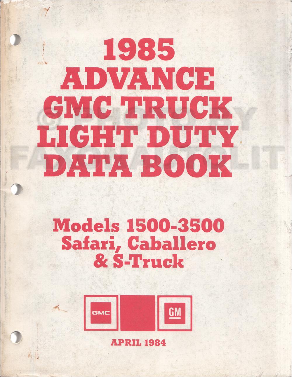 1985 GMC Truck Repair Shop Manual Original Pickup Jimmy