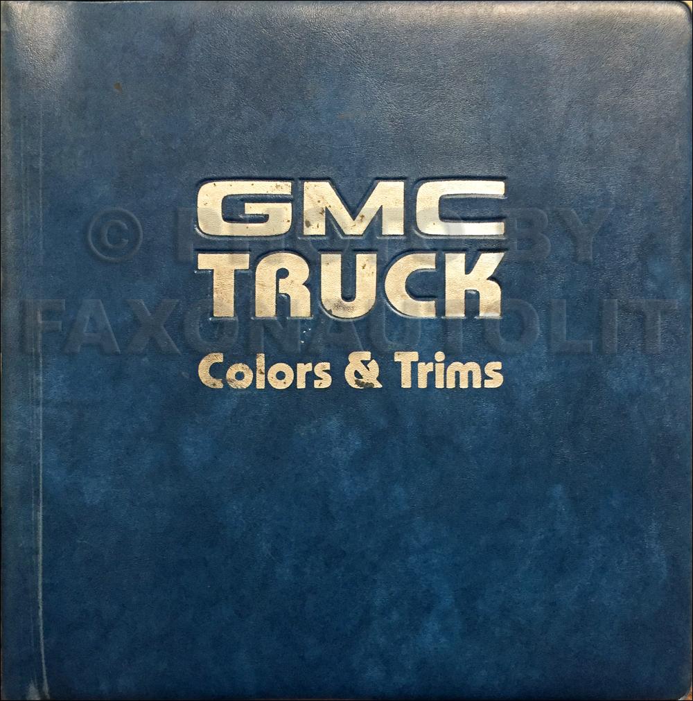 1985 GMC Color & Upholstery Dealer Album Original