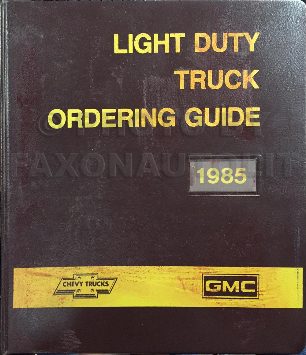 1985 Chevy Truck Repair Shop Manual Original Pickup Blazer