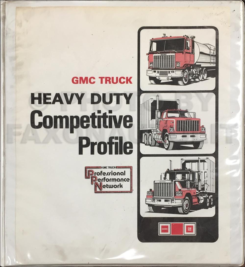1985 GMC Heavy Duty Competitive Comparison Dealer Album Original