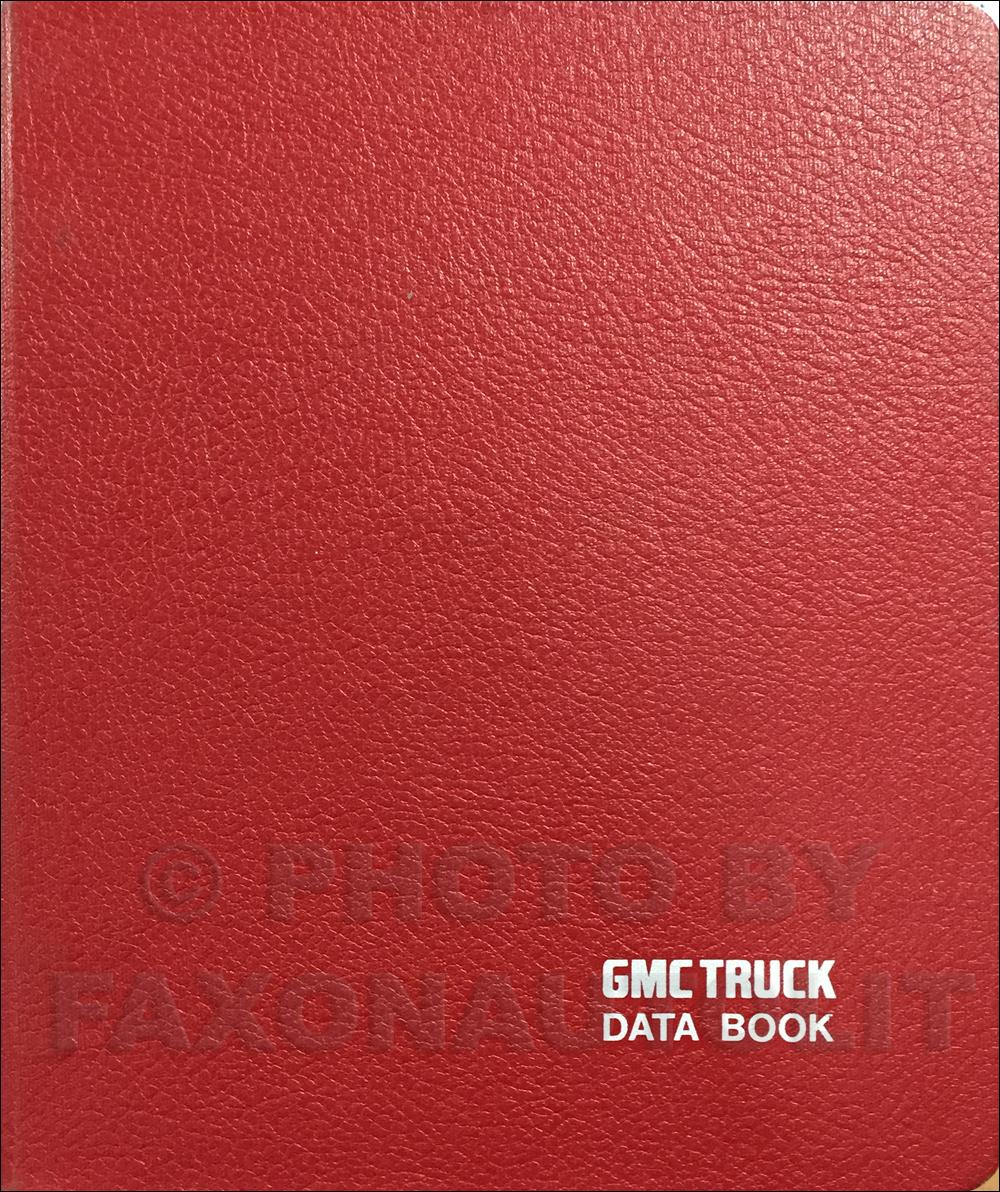 1985 GMC Heavy Duty Data Book Original