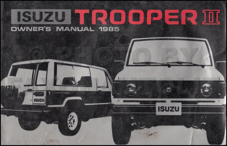 1999 Isuzu Trooper Wiring Diagrams Online Repair Manuals