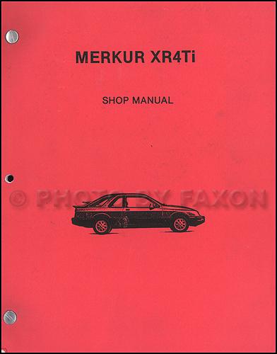 1986 merkur xr4ti electrical & vacuum troubleshooting manual original 1986 merkur xr4ti wiring diagram 1986 toyota pickup wiring diagram #10