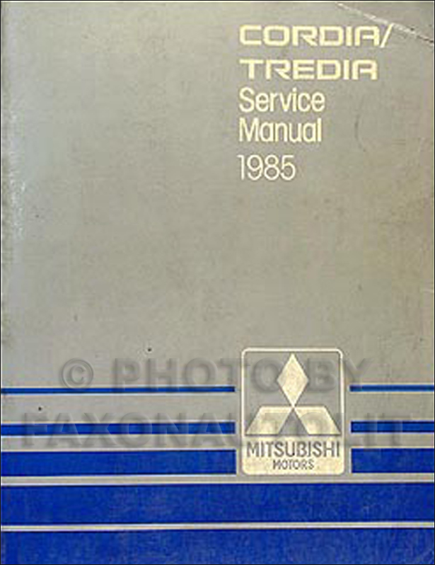1985 Mitsubishi Cordia And Tredia Repair Shop Manual Original