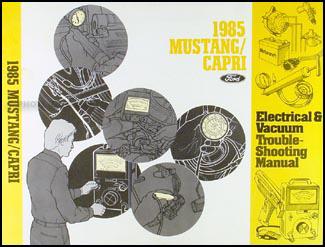 1985 mustang capri electrical and vacuum troubleshooting manual1985 Ford Mustang Mercury Capri Vacuum Diagram For Brakes And Cruise #18