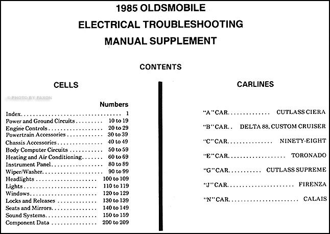 1985OldsETMS TOC 1985 oldsmobile electrical troubleshooting repair shop manual  at fashall.co