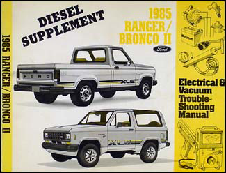 ford ranger and bronco ii factory foldout wiring diagram related items