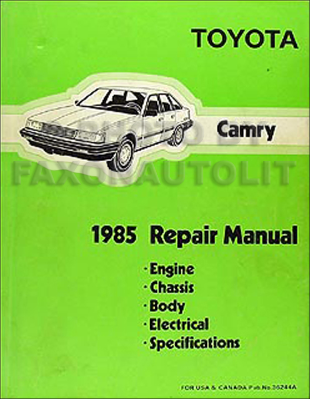 1985 toyota camry original shop repair manual 85 service book ebay. Black Bedroom Furniture Sets. Home Design Ideas
