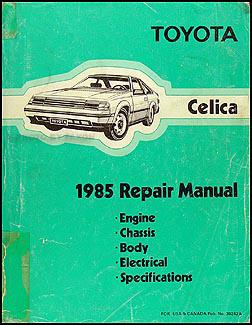 1985ToyotaCelicaORM 1985 toyota celica repair shop manual original